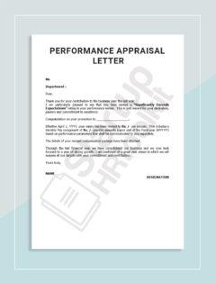 4-Performance Appraisal letter