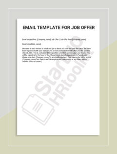 EMAIL TEMPLATE FOR JOB OFFER