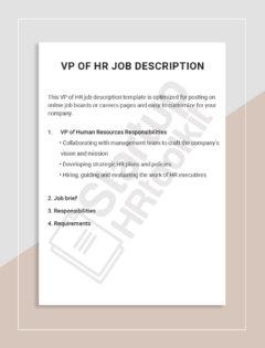 VP of HR job description
